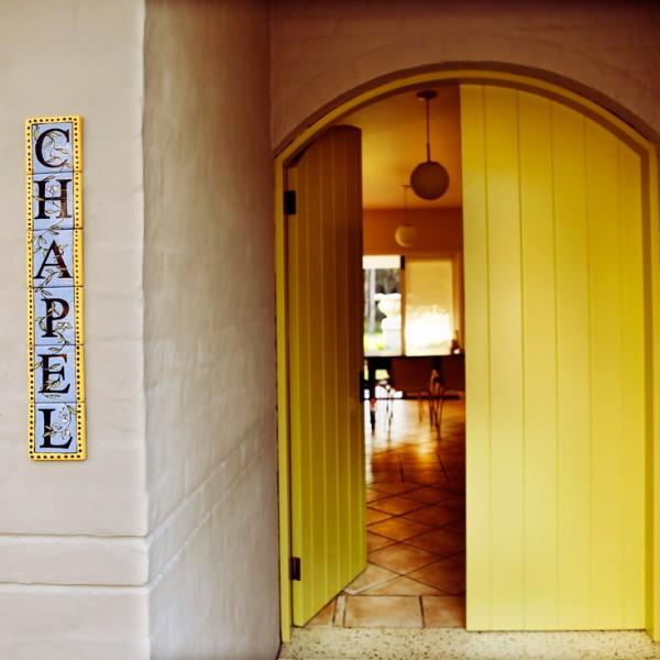 The Woods at Pokolbin Chapel Yellow Door